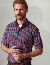 Sidehill Check Mens Long Sleeve Cotton Shirt