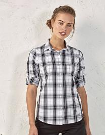 Ginmill Check Womens Long Sleeve Cotton Shirt