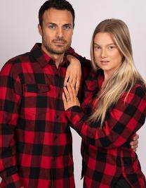Woven Plaid Flannel Shirt